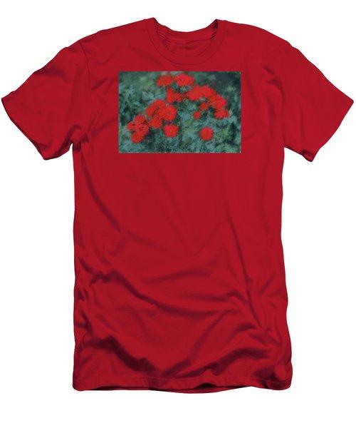 Marilyn's Red Roses Men's T-Shirt (Slim Fit) by The Art Of Marilyn Ridoutt-Greene