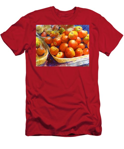 Men's T-Shirt (Athletic Fit) featuring the painting Market Tomatoes by Andrew King