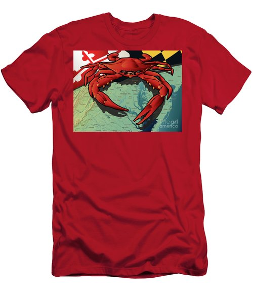 Maryland Red Crab Men's T-Shirt (Athletic Fit)