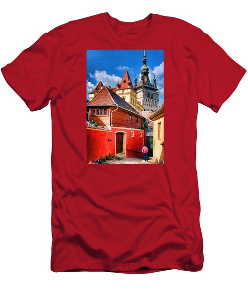 Medieval Sighisoara Men's T-Shirt (Slim Fit) by Dennis Cox WorldViews