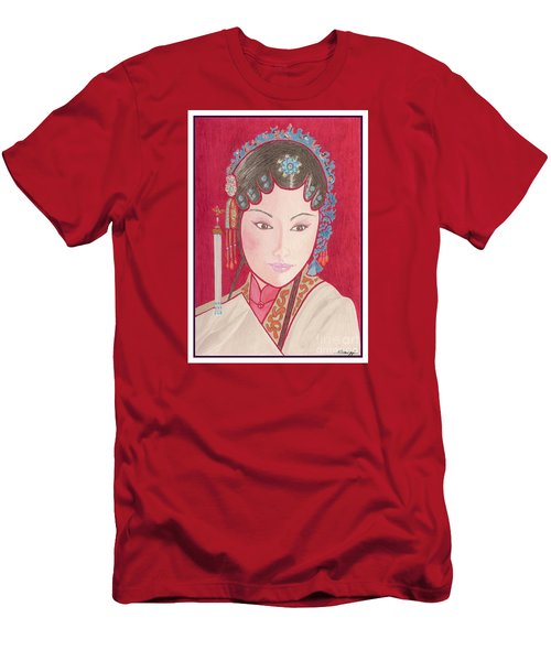 Mei Ling -- Portrait Of Woman From Chinese Opera Men's T-Shirt (Athletic Fit)