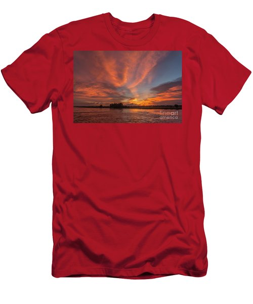Men's T-Shirt (Slim Fit) featuring the photograph Mekong Sunset 3 by Werner Padarin