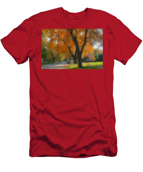 Memory Of An Autumn Day Men's T-Shirt (Slim Fit) by Lyle Hatch