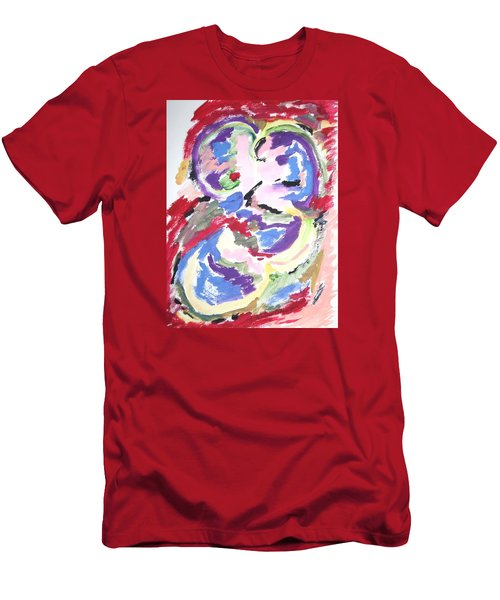 Men's T-Shirt (Slim Fit) featuring the painting Mental Preoccupation by Esther Newman-Cohen