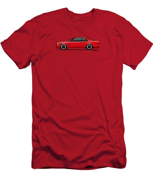 Mercedes W124 300e Red Amg Hammer Widebody Coupe Red Men's T-Shirt (Athletic Fit)