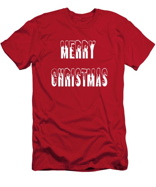 Merry Christmas Tee Men's T-Shirt (Athletic Fit)