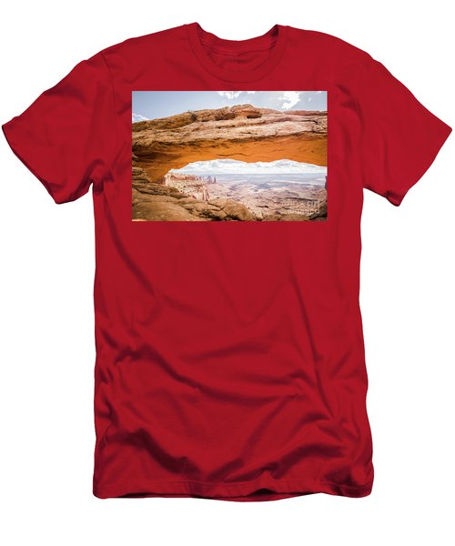 Mesa Arch Sunrise Men's T-Shirt (Slim Fit) by JR Photography