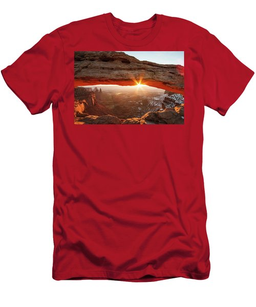 Men's T-Shirt (Athletic Fit) featuring the photograph Mesa Arch by Wesley Aston
