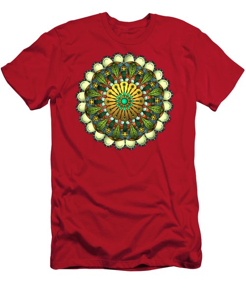 Metallic Mandala Men's T-Shirt (Athletic Fit)