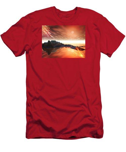 Men's T-Shirt (Slim Fit) featuring the digital art Meteroite by Jacqueline Lloyd