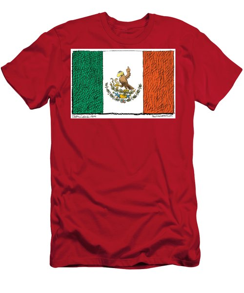 Mexico Flips Bird Men's T-Shirt (Athletic Fit)