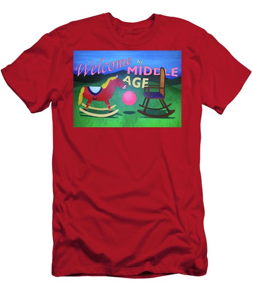 Middle Age Birthday Card Men's T-Shirt (Athletic Fit)
