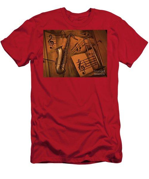 Midnight Music Men's T-Shirt (Athletic Fit)