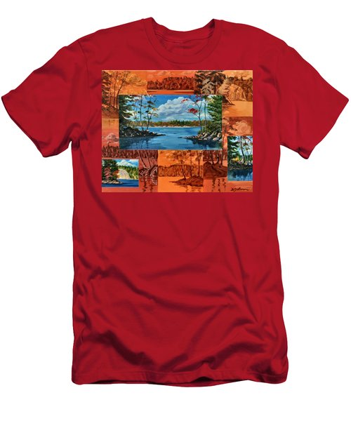 Mink Lake Looking North West Men's T-Shirt (Athletic Fit)