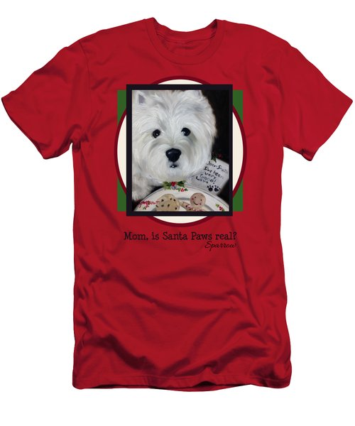 Mom Is Santa Paws Real Men's T-Shirt (Athletic Fit)