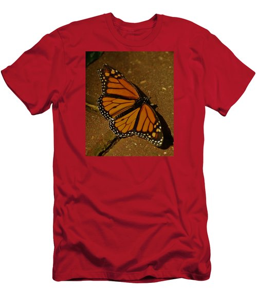 Men's T-Shirt (Slim Fit) featuring the photograph Monarch Butterfly by Ramona Whiteaker