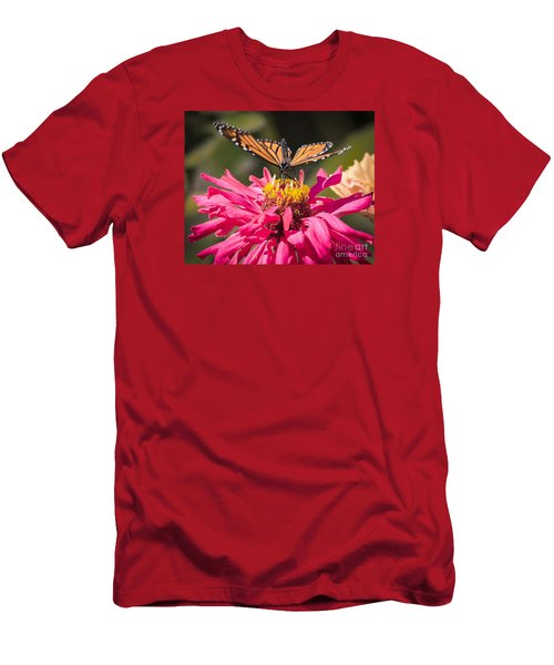 Men's T-Shirt (Slim Fit) featuring the photograph Monarch On The Last Days Of Summer by Ricky L Jones