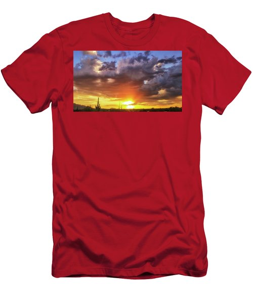 Monsoon Sunset Men's T-Shirt (Slim Fit) by Anthony Citro
