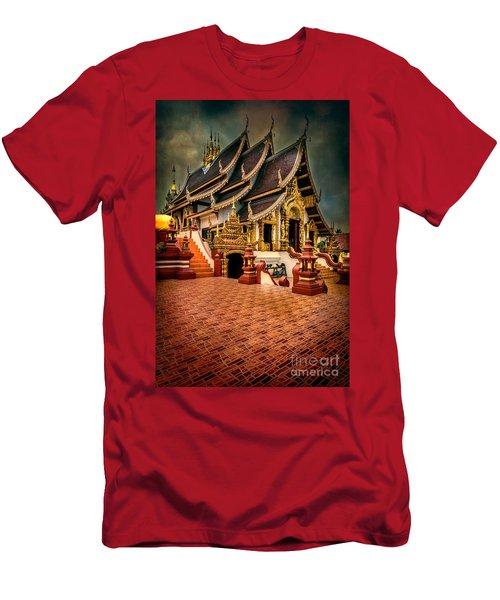 Monthian Temple Chiang Mai  Men's T-Shirt (Athletic Fit)