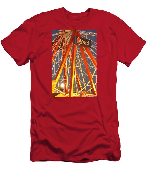 Moon And The Ferris Wheel Men's T-Shirt (Slim Fit) by Robert Banach