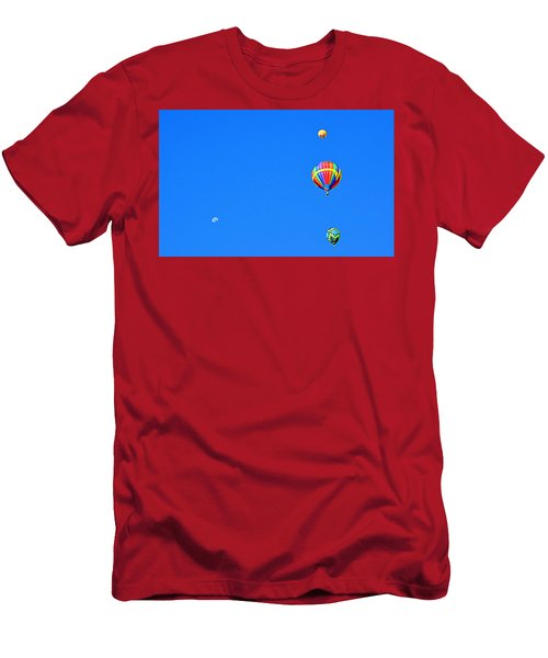 Men's T-Shirt (Athletic Fit) featuring the photograph Moon At 8 Oclock by AJ Schibig
