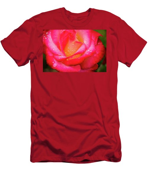 Morning Rose For You Men's T-Shirt (Athletic Fit)