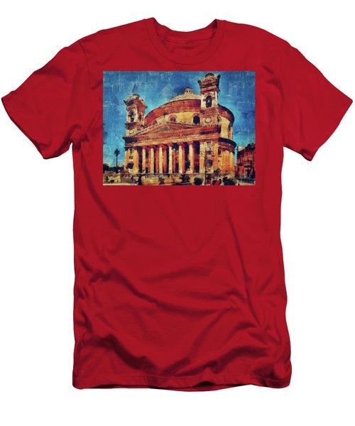 Mosta Church Men's T-Shirt (Athletic Fit)