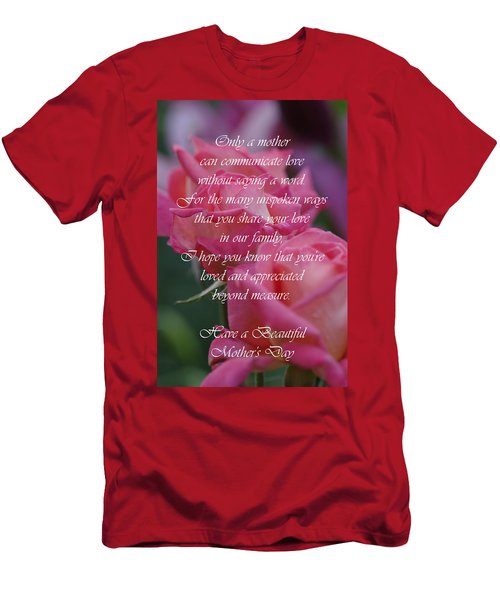 Men's T-Shirt (Slim Fit) featuring the photograph Mother's Day Card 6 by Michael Cummings