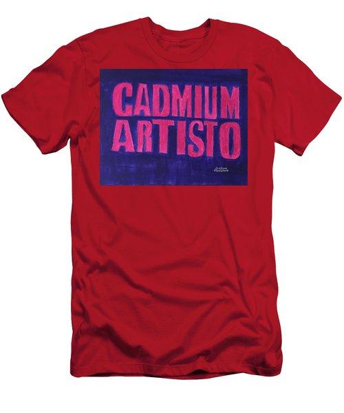 Movie Logo Cadmium Artisto Men's T-Shirt (Slim Fit) by Joshua Maddison