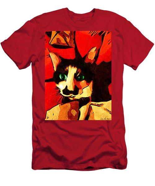 Mr. Wiggins Men's T-Shirt (Slim Fit) by Iowan Stone-Flowers