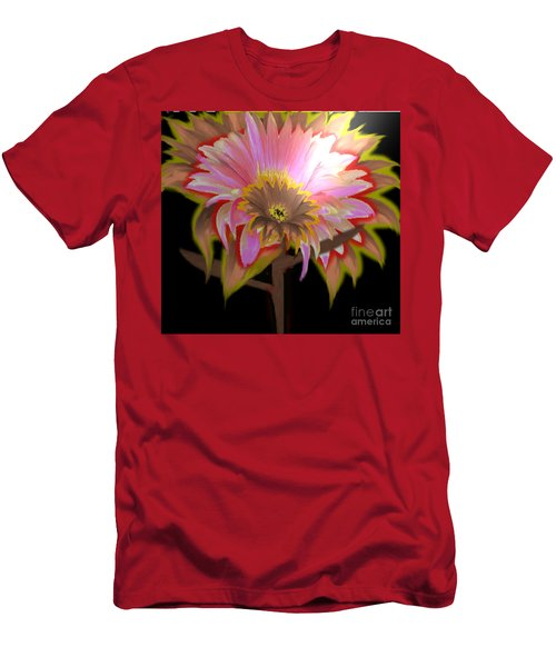 Multi Color Daisy Men's T-Shirt (Athletic Fit)