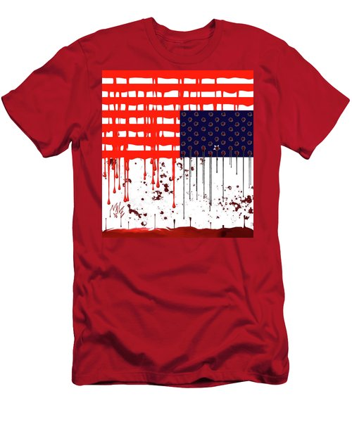 America In Distress Men's T-Shirt (Athletic Fit)