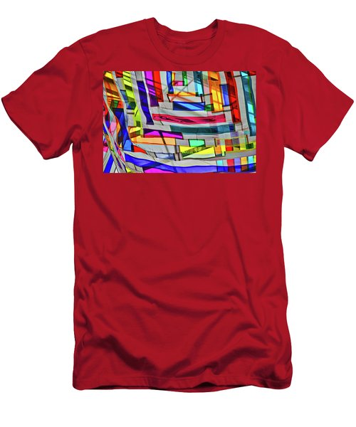 Museum Atrium Art Abstract Men's T-Shirt (Athletic Fit)