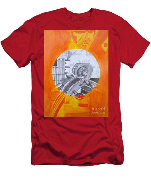 Men's T-Shirt (Athletic Fit) featuring the painting Music 3 by Maria Langgle
