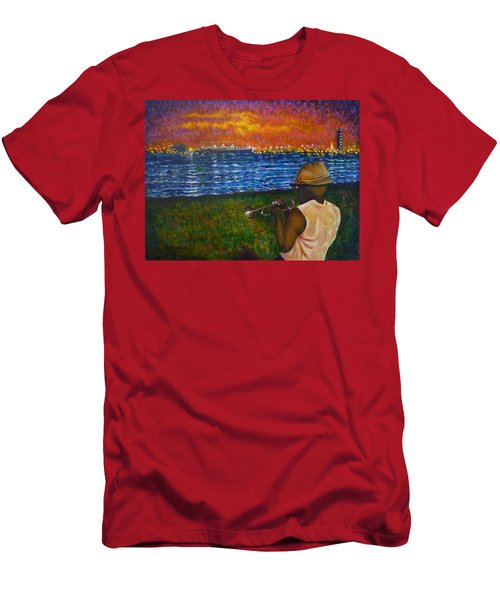 Music Man In The Lbc Men's T-Shirt (Athletic Fit)