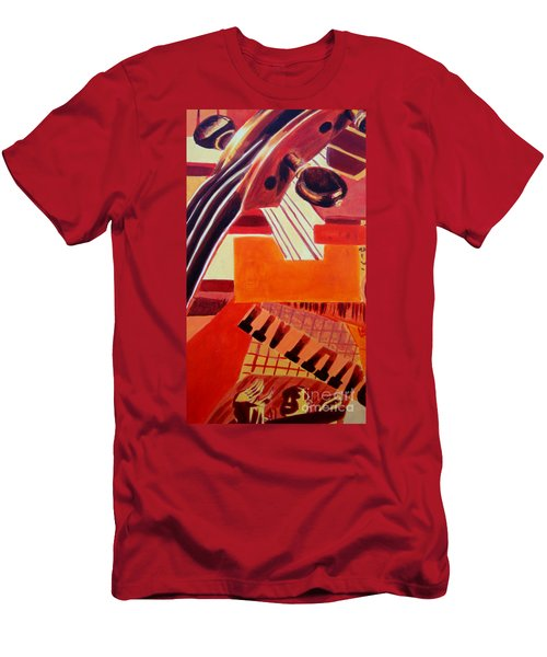 Men's T-Shirt (Athletic Fit) featuring the painting Music by Maria Langgle