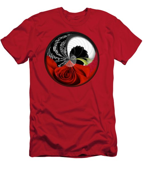 Men's T-Shirt (Slim Fit) featuring the photograph Music Orbit by Phyllis Denton