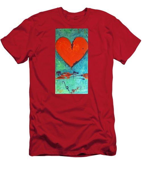 Musical Heart Men's T-Shirt (Slim Fit) by Diana Bursztein