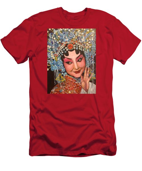 Men's T-Shirt (Slim Fit) featuring the painting My Fair Lady by Belinda Low