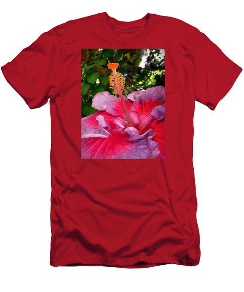 My Special Hibiscus Men's T-Shirt (Slim Fit) by Lori Seaman