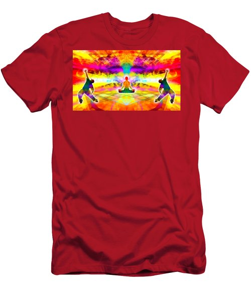 Men's T-Shirt (Athletic Fit) featuring the digital art Mystic Universe 11 by Derek Gedney