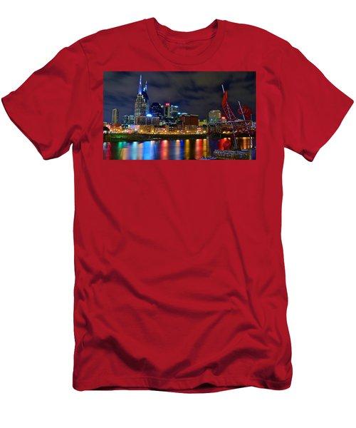 Nashville After Dark Men's T-Shirt (Athletic Fit)