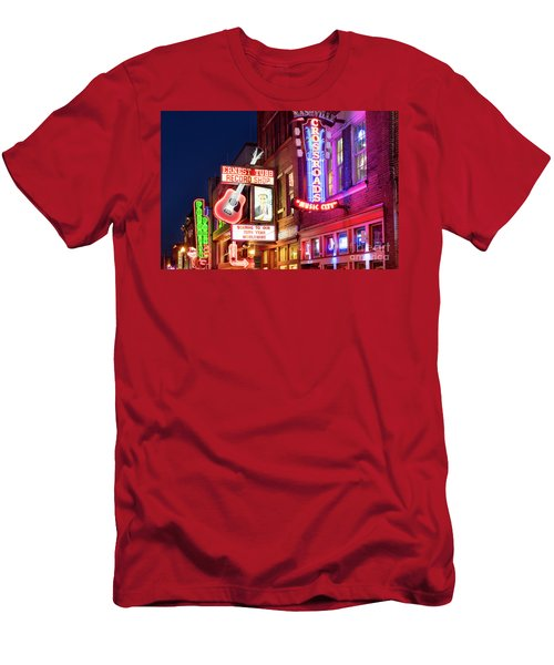 Men's T-Shirt (Slim Fit) featuring the photograph Nashville Signs by Brian Jannsen