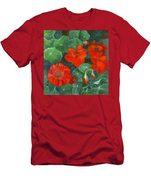 Nasturtiums Men's T-Shirt (Athletic Fit)