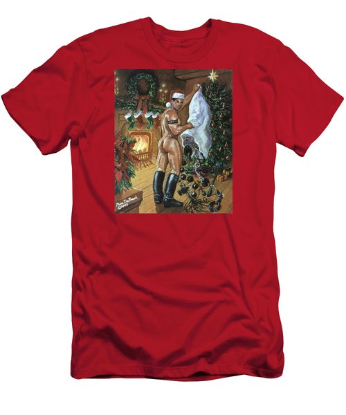 Naughty Santa Men's T-Shirt (Athletic Fit)