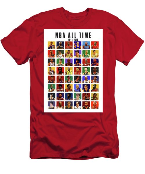 Nba All Times Men's T-Shirt (Slim Fit) by Semih Yurdabak