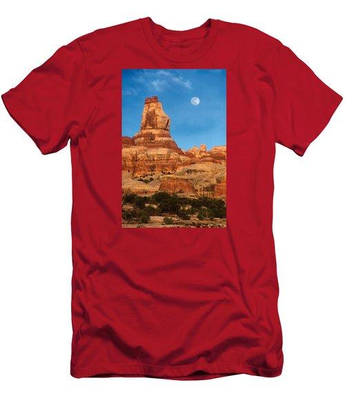 Needles Moonrise At Sunset Men's T-Shirt (Athletic Fit)
