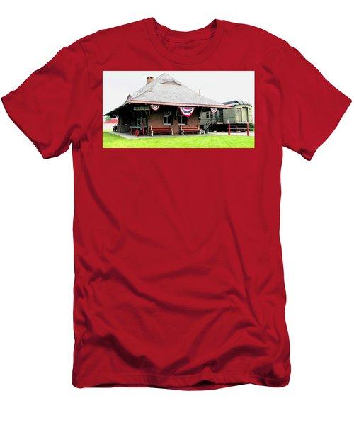 New Oxford Pennsylvania Train Station Men's T-Shirt (Athletic Fit)