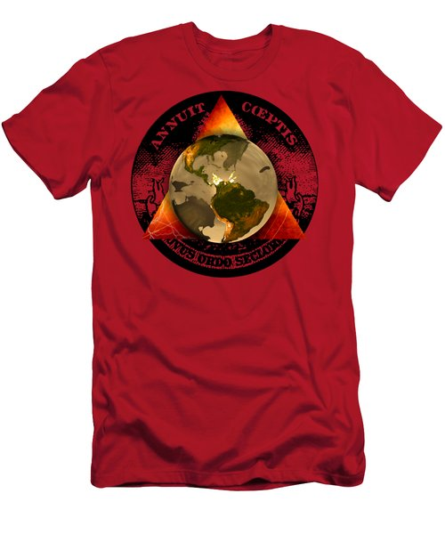 New World Order By Pierre Blanchard Men's T-Shirt (Athletic Fit)