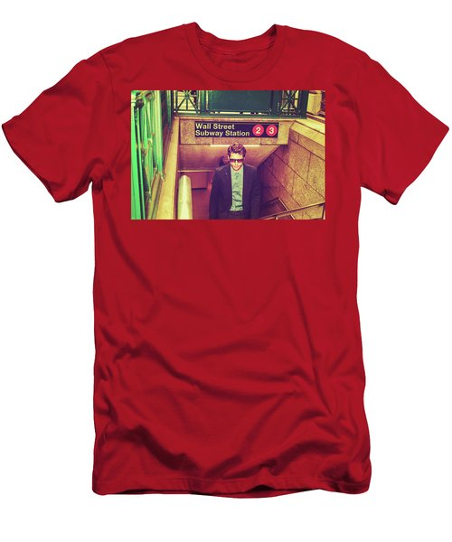 New York Subway Station Men's T-Shirt (Athletic Fit)